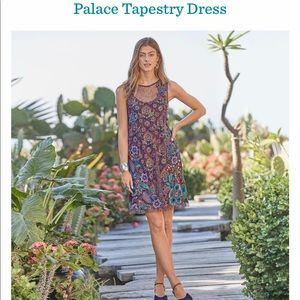 Gorgeous Multicolor Floral Embroidered Dress